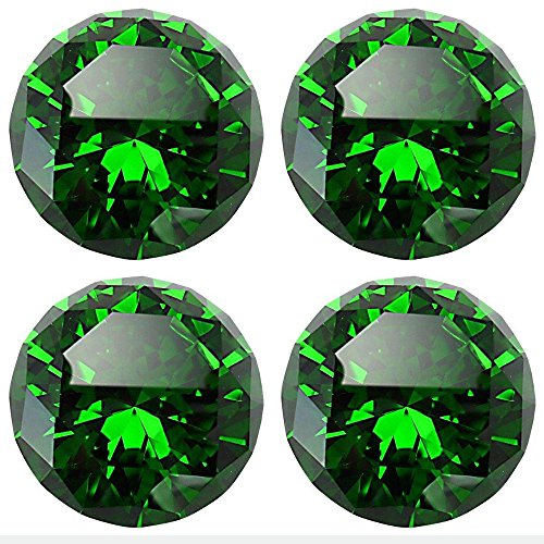 CSKB Green 4PCS 40mm Diamond Crystal Glass Kitchen Cabinet Door Cupboard Knob Pull Handle Drawer +Screw Green Color Drawer Pulls Knobs