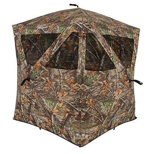 Ameristep Care Taker Ground Blind, Hubstyle Blind in Realtree Edge (Hunting In The Rain Good Or Bad)