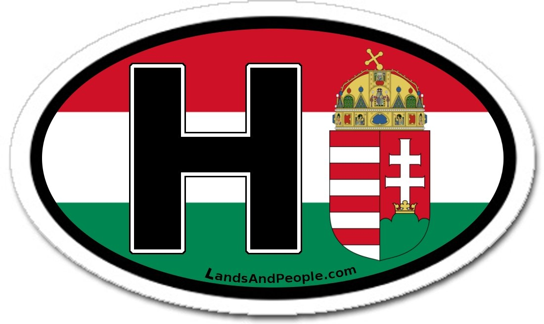 Amazon com hungary h flag car bumper sticker decal oval automotive
