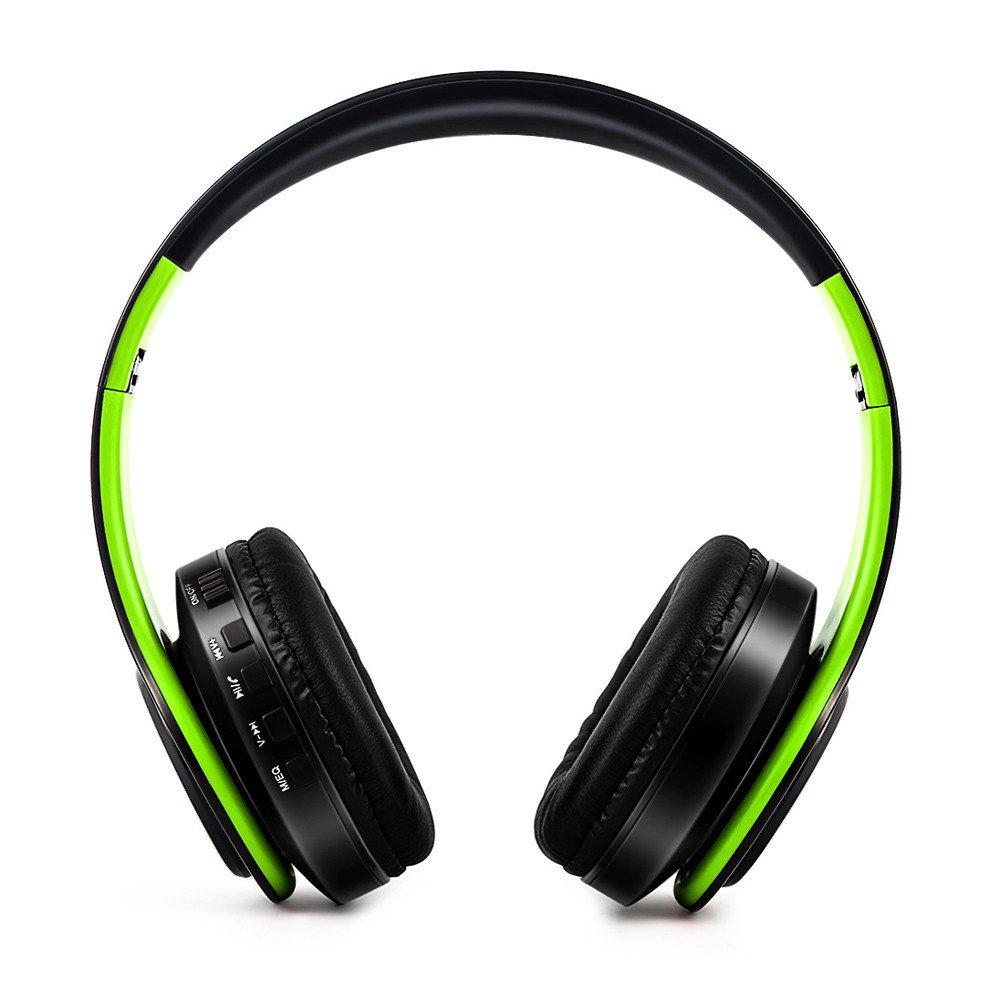 お気に入りの MiniPoco Bluetoothヘッドフォン オーバーイヤーHi-Fiステレオワイヤレスヘッドセット マイク付き SD マイク付き/TFカード対応 M グリーン M グリーン MiniPoco B07H1RCRB5, タネイチマチ:680f88ad --- nicolasalvioli.com
