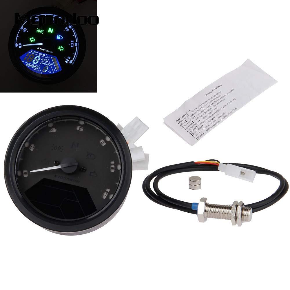 contachimetro contachilometri mph Abilie tachimetro Digitale LCD per Moto