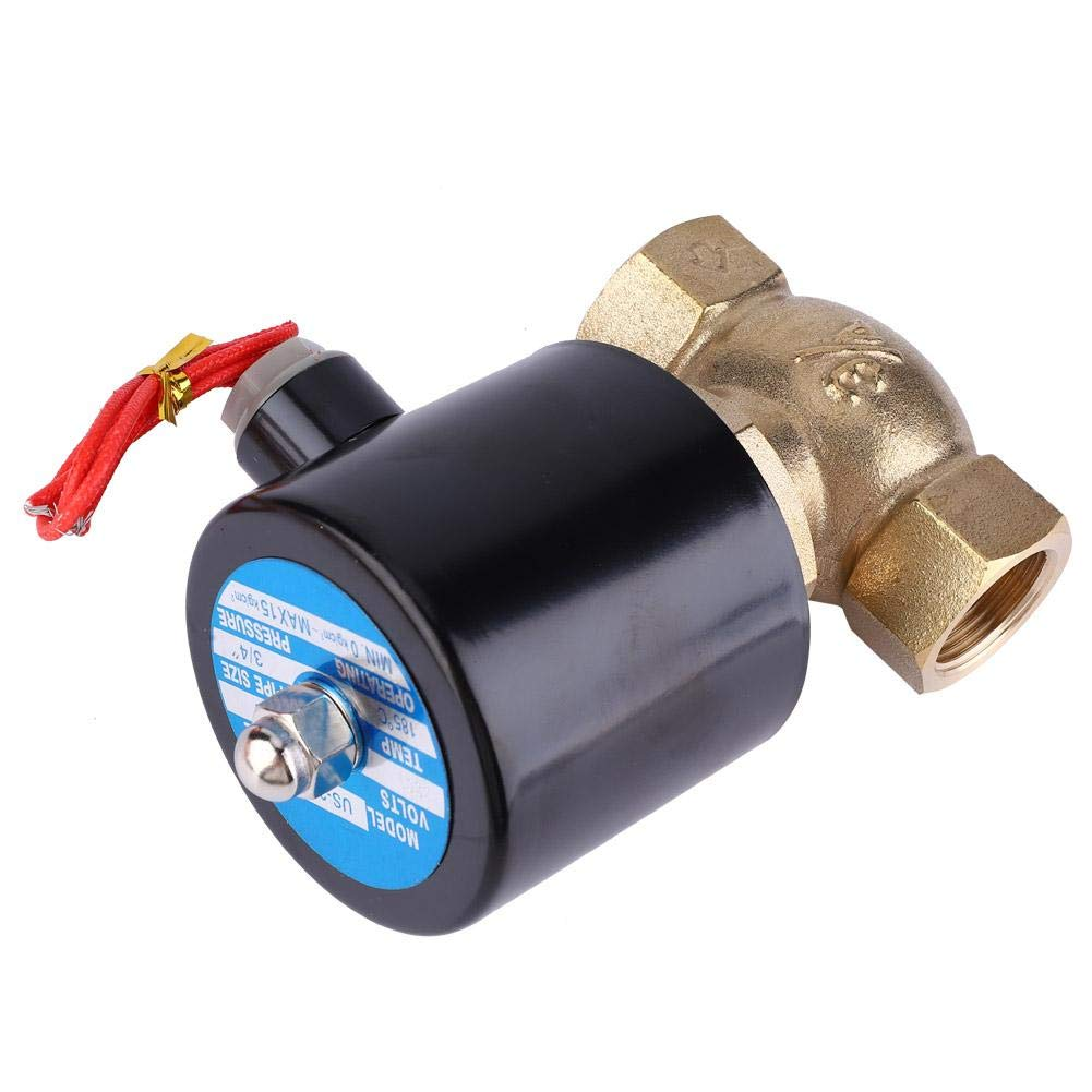AC220V G3//4 Solenoid Valve,0.1-1.5Mpa Two-Way Solenoid Valve,Normally Closed Solenoid Valve Water Solenoid Valve,Pilot Solenoid Valve