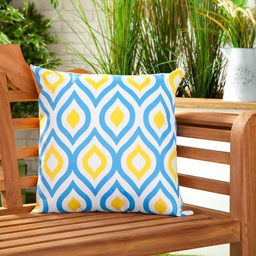 Gardenista Cojín Relleno Resistente al Agua y para Exteriores | Diseño con Patrones Coloridos | Accesorio para Muebles de Jardín| Almohadas Decorativas de | 45 x 45 cm (1 Pieza, Blue/Yellow): Amazon.es: Jardín