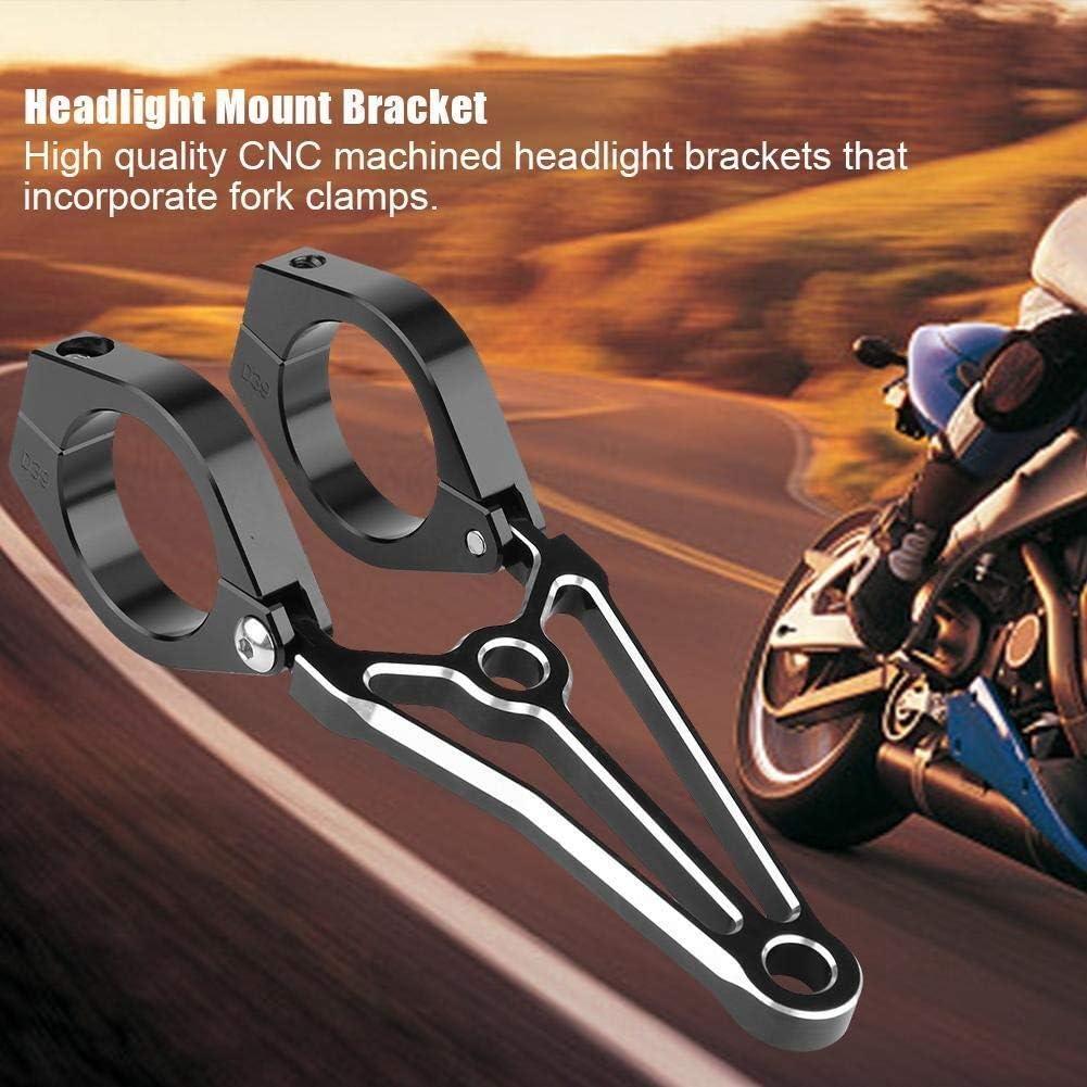 KSTE Lampenhalter 1 Paar Motorrad-Motorrad-Scheinwerfer-Halterung Gabel-Kopf-Lampen-Halter for Cafe Racer . 39mm und 41mm