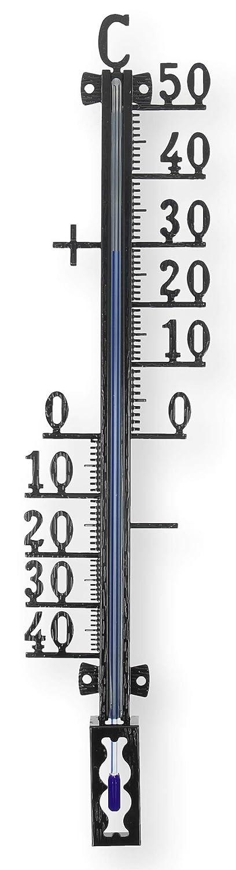 Lantelme Termómetro de jardín de 27 cm, de metal, para jardín, mecánico, para interior y exterior, indicador de temperatura analógico 7702