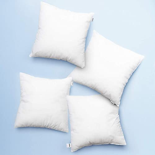 Nestl Bedding Large Throw Pillow Insert – Premium Pillow Inserts Decorative Pillow Stuffers Square Form for Couch Sofa Bed Cushion – 26×26 Euro Pillow Insert Set of 4