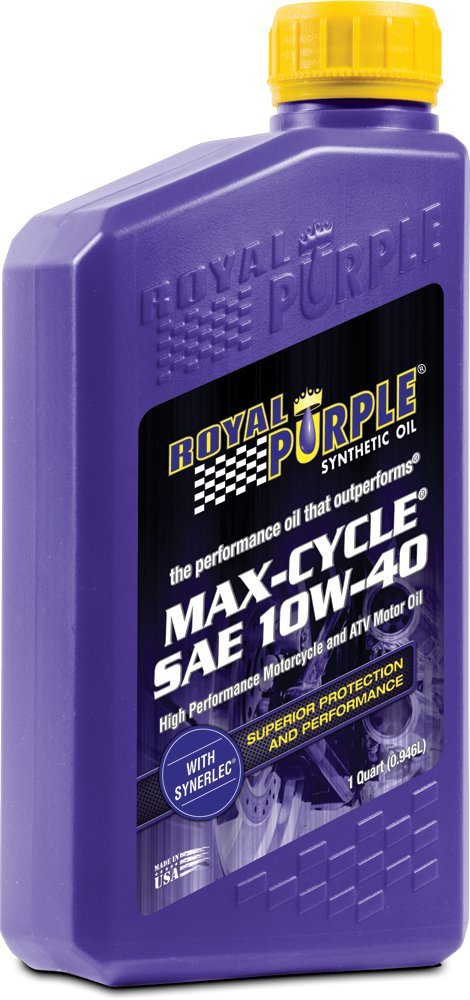 Royal Purple 12315 Max Cycle 10W-40 High Performance Synthetic Motorcycle Oil - 1 qt. (Case of 12)