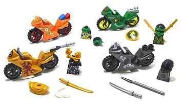 ARUNDEL SERVICES EU Mini Figuras 4 Motocicletas Motos Ninja ...