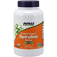 Now Foods | Spirulina | 500 mg | 500 vegane Tabletten | glutenfrei