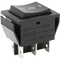 heschen Rocker Interruptor ON-OFF-ON DPDT 6Terminales 16A 250VAC