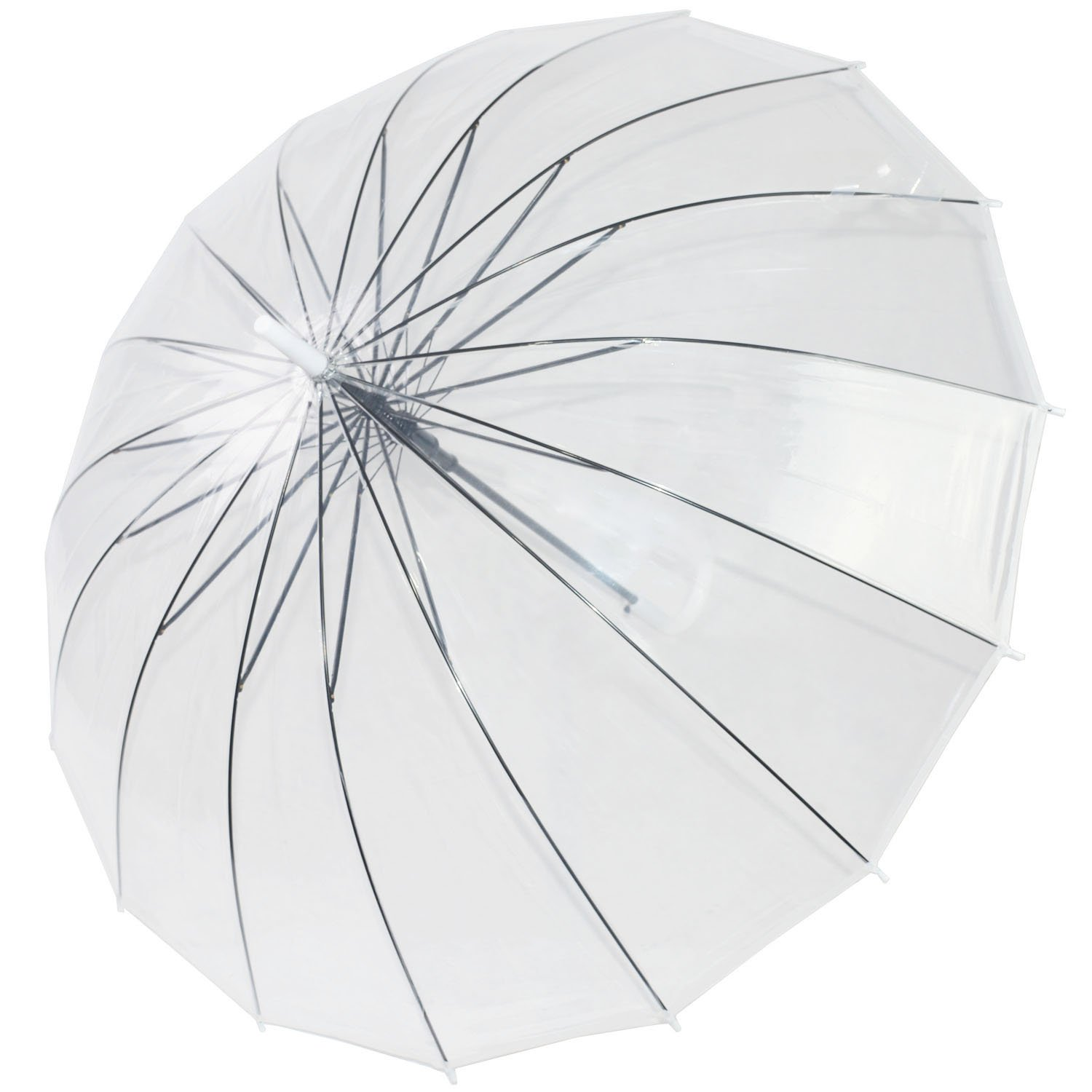 Kung Fu Smith Large Bubble Dome Auto Open Rain Clear Stick Umbrella