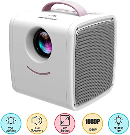 Proyector Portable, Mini proyector HD 700 lúmenes LED 3D TV Pocket ...