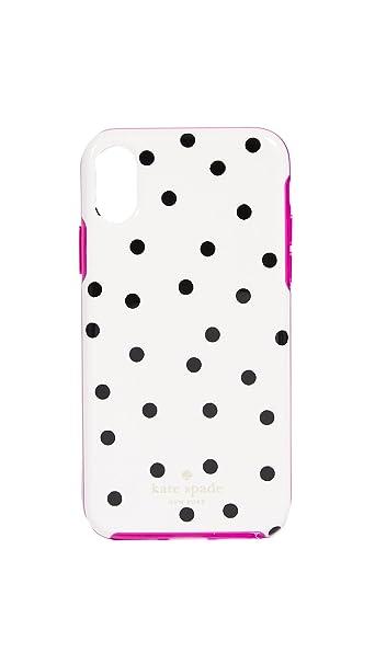 competitive price 701e7 befce Amazon.com: Kate Spade New York Dancing Dot iPhone X Case, Cream ...