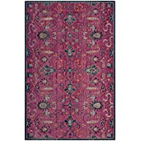 Safavieh Artisan Collection ATN338F Vintage Bohemian Fuchsia and Multi Distressed Area Rug (8 x 10)