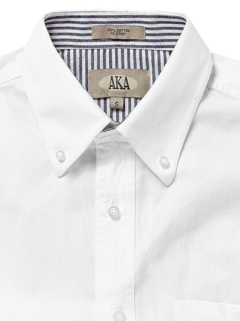 Big AKA Mens Wrinkle Free 100/% Cotton Button Down Collar Casual Shirt