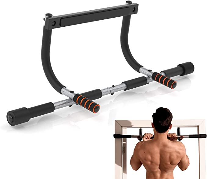Straight Hanging Pulling Rod for Body Muscle Building 20 Inch Solid Steel Body Building Chin Up Pulling Bar with Rubber Coated Non-slip Handle Ejoyous Home Gym Exercising Pull Up Bar