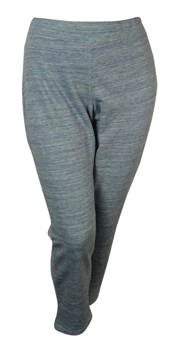 Style & Co. Women's Marled Active Pants (PXL, Grey/Aqua Shell)