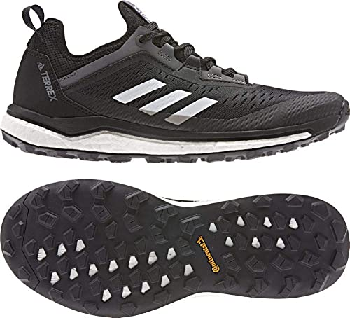 adidas outdoor Terrex Agravic Flow Trail Running Shoe - Women's Black/Grey  Two/Grey Four, 11.0
