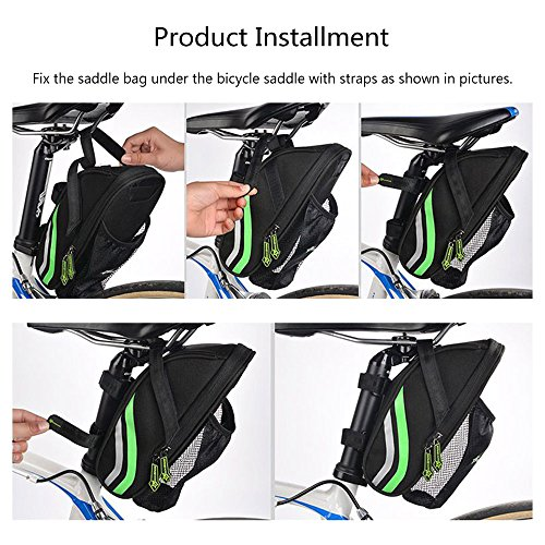ROCKBROS Nylon Bike Saddle Bag Outdoor Cycling Mountain Bike Back Seat Bicycle Rear Bag Bicycle Accessories Tail Pouch Package