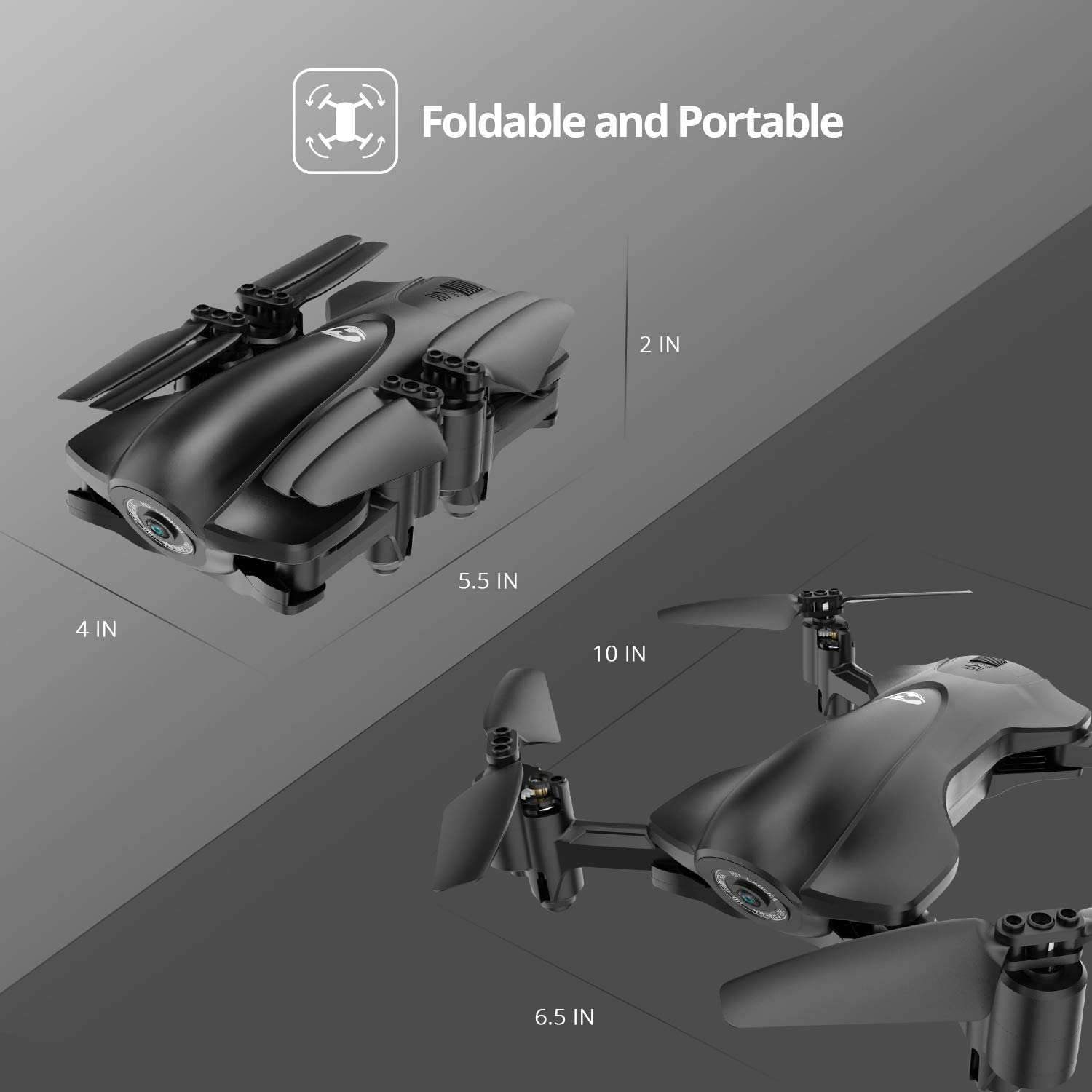 Holy Stone HS165 foldable pocket drone is at #5 for best drones under 150 dollars