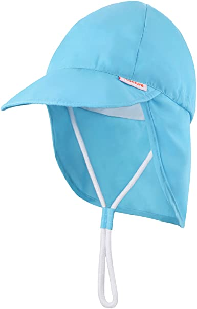 LACOFIA Baby Boys Girls Sun Hat Toddler Summer Beach Bucket Hat UPF 50 Kids Swimming Cap with Adjustable Chin Strap