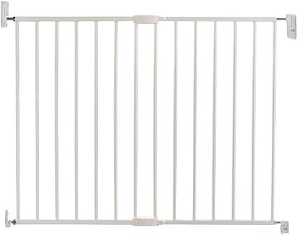 Lindam extending metal wall fix safety stair gate baby children pet 63.5-102cm