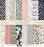 Pattern Paper Pack - Free Spirit - Scrapbook Card Stock Single-Sided 12''x12'' Collection Includes 16 Sheets - by Miss Kate Cuttables
