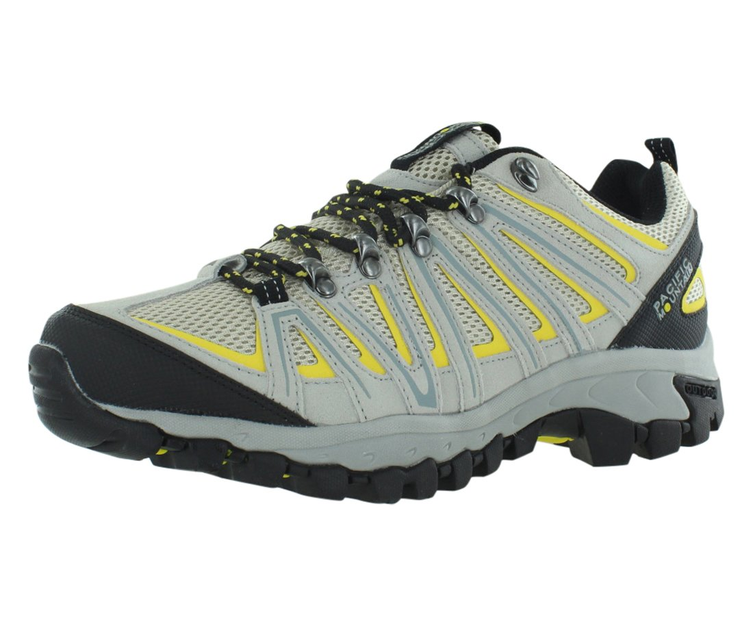 Pacific Mountain Ravine Men's Hiking Backpacking Low-Cut Cream/Yellow Boots Size 13 by Pacific Mountain