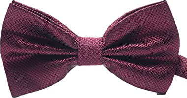 Mens Classic Pre-Tied Satin Formal Tuxedo Bowtie Adjustable Length Large Variety Colors Available