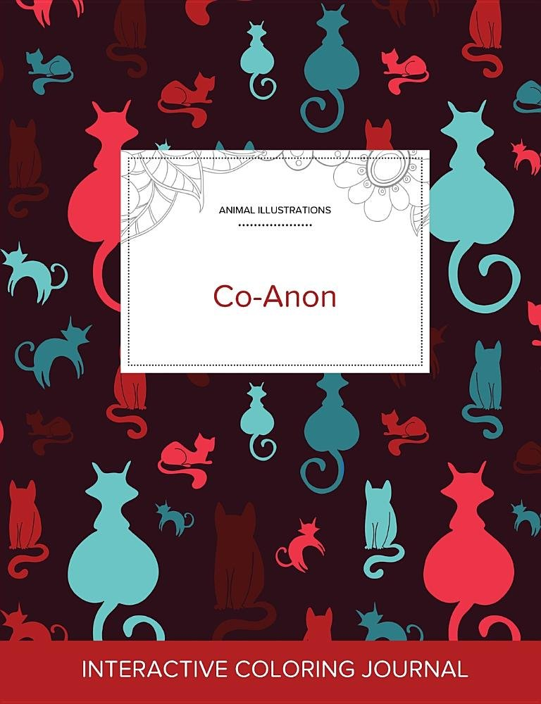 Download Adult Coloring Journal: Co-Anon (Animal Illustrations, Cats) pdf