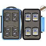 Flashwoife - patentierte Aufnahme - Turtle-SD8MSD16 wasserdichte Speicherkarten Schutzbox für 8 Stück SDHC und 16 Stück MicroSD Cards Case in schwarz