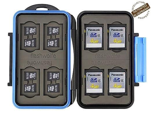 34 opinioni per Flashwoife Turtle-SD8MSD16 caso per schede di memoria per la protezione di 8