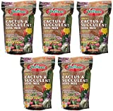 Hoffman 10404 Organic yoPbe Cactus and Succulent Soil Mix, 4 Quart (5 Pack)
