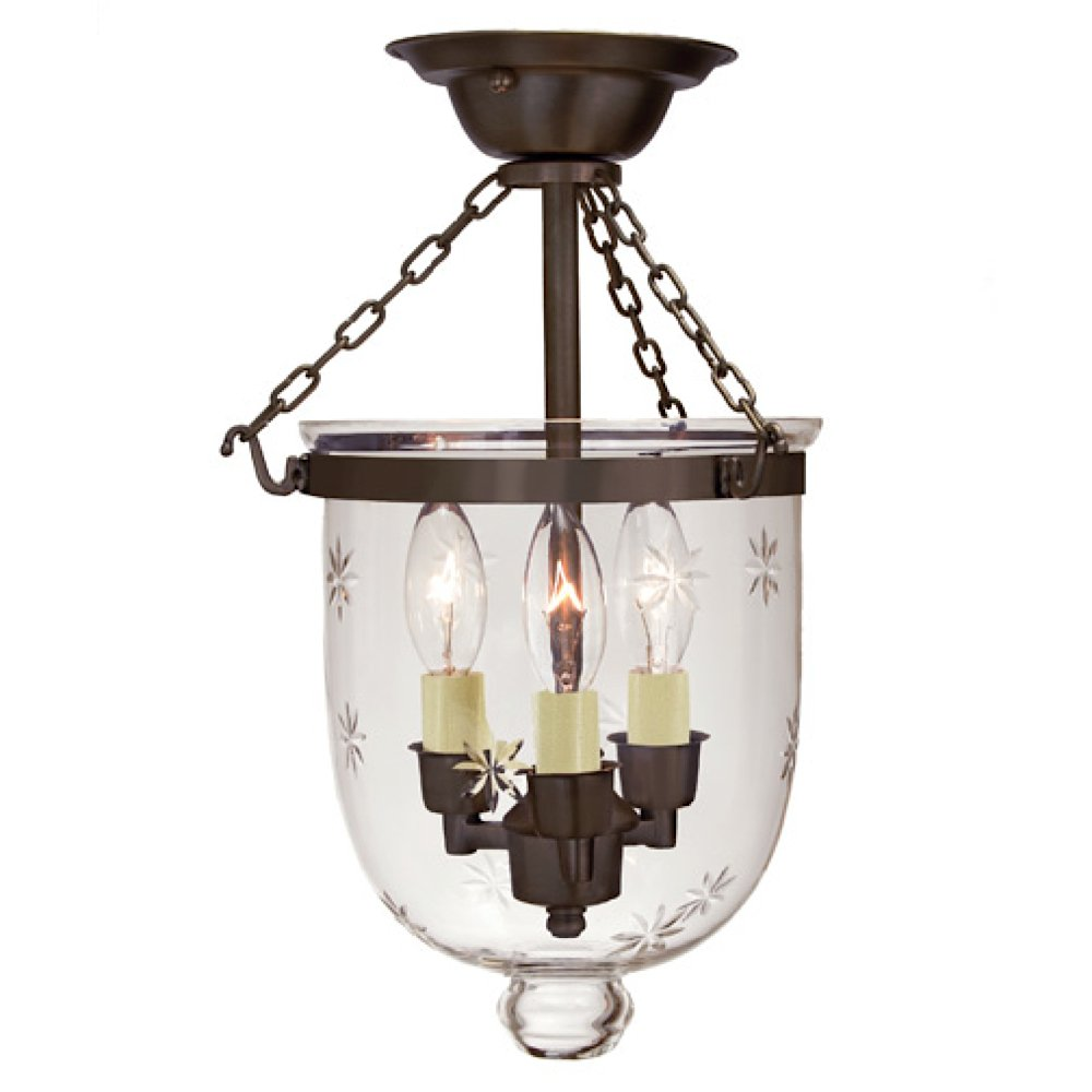 3 light small bell jar semi flush mount with star glass finish oil 3 light small bell jar semi flush mount with star glass finish oil rubbed bronze directional spotlight ceiling fixtures amazon arubaitofo Choice Image