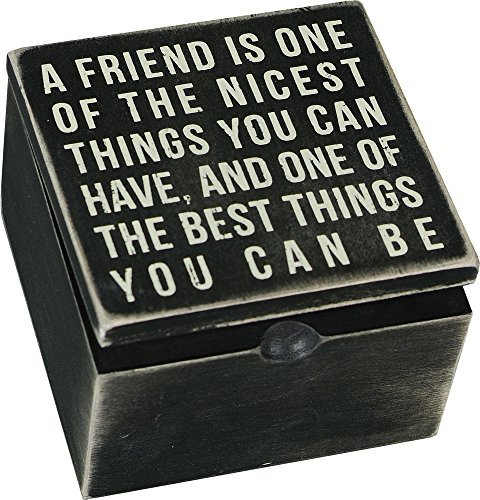 A Friend Is Keepsake Box Sign Wooden Hinged Box By Primitives By Kathy