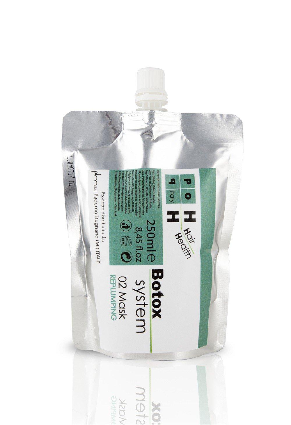 Pop Italy Botox System Replumping - Maschera al Botox per i capelli, 250 ml BOTOXMASK02