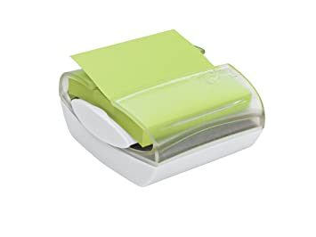Post-it Pop-up notas dispensador para notas 3 x 7,62 cm, base de color blanco con parte superior, transparente, incluye una almohadilla Ultra: Amazon.es: ...