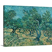 "Vincent Van Gogh Premium Thick-Wrap Canvas Wall Art Print entitled The Olive Grove 30""x24"""