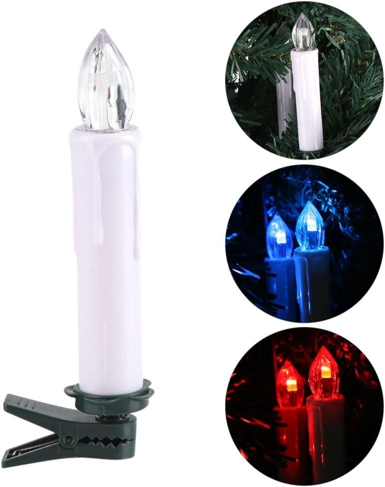 Zyyini Lumi/èRe de Bougie LED Lampe sans Fil 10PCS RGB avec Clip T/éL/éCommande Lumi/èRes de Sapin de No/ëL