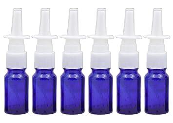 cada73a194c1 6Pcs 10ml/0.34oz Glass Nasal Spray Bottles - Portable Empty Refillable Fine  Mist Sprayers Atomizers...