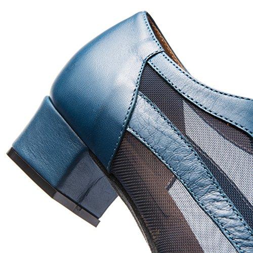 Rumpf 9103 Damen Standard Swing Lindy Hop Balboa Westcoast Tanz Schuhe Blau Blau