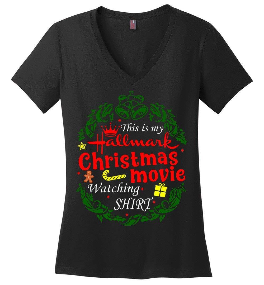 Hallmarkthis Is My Hallmark Christmas Movie Watching Ladies Shirts