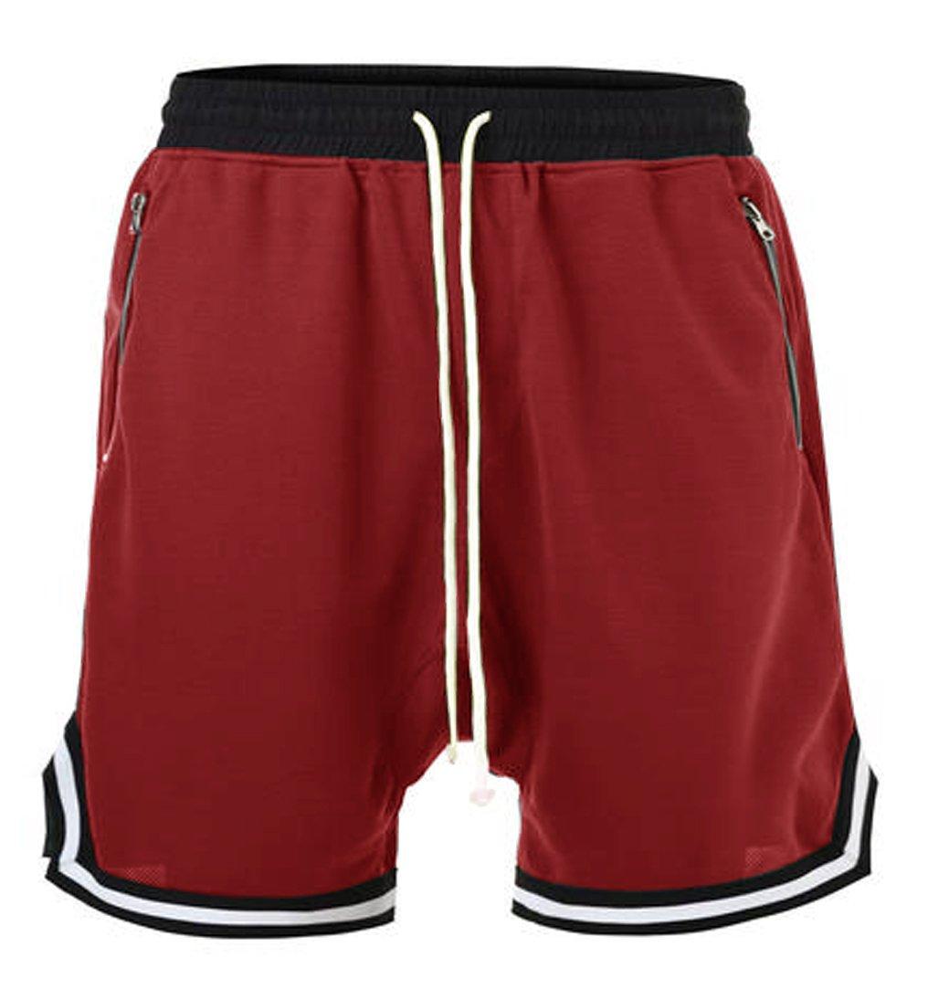 NITAGUT Men's Drawstring Casual Sporting Trousers Summer Shorts