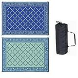 camper area rug - Reversible Mats 119123 Blue/Light Green 9'x12' RV Garden Mat