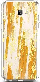 QPOLLY Compatible avec Coque Samsung Galaxy J4 Plus 2018 Transparente Ultra Mince Silicone Housse Étui de Protection Clair Design avec Motif Imprimé [Exact Fit] TPU Souple Case Anti-Choc Cover,Coeur B