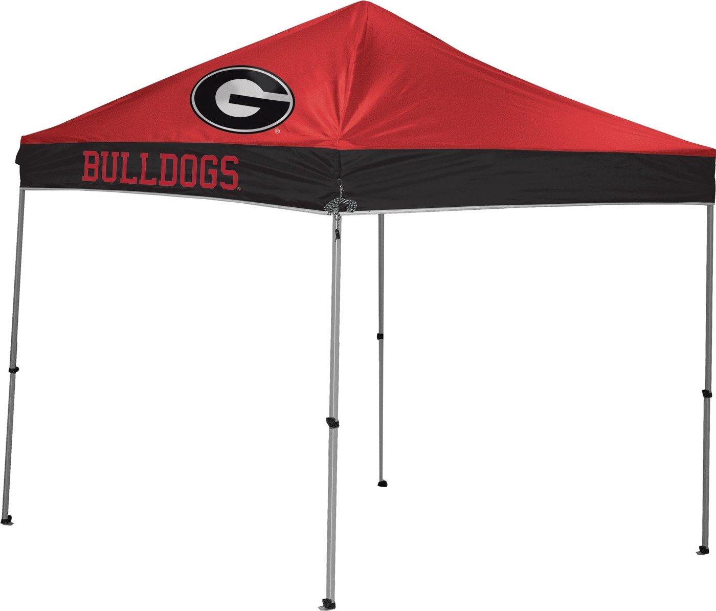 Coleman Camping NCAA Straight Leg Georgia Canopy, 9 x 9'
