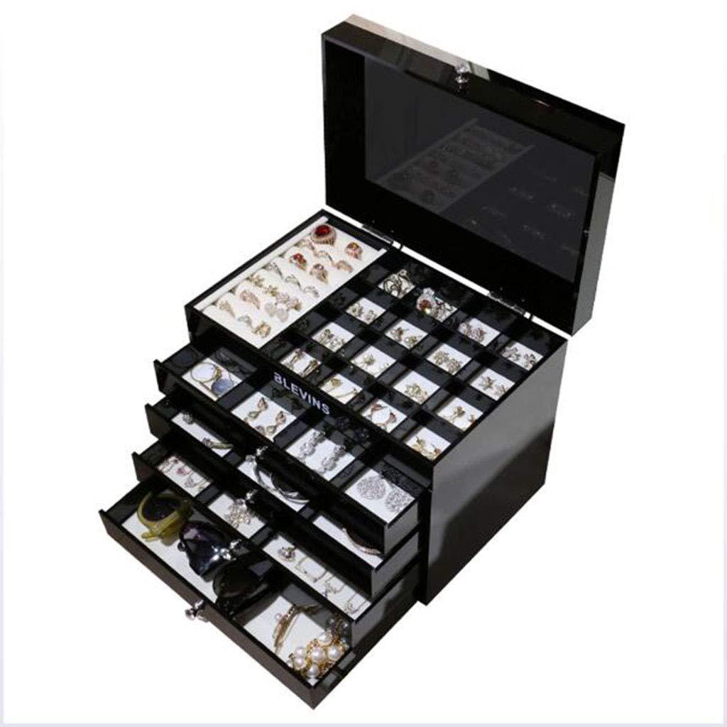 ハンドメイドボックス多機能収納ジュエリーボックスシンプルなハイグレードマルチレイヤー B07LFRLYLT