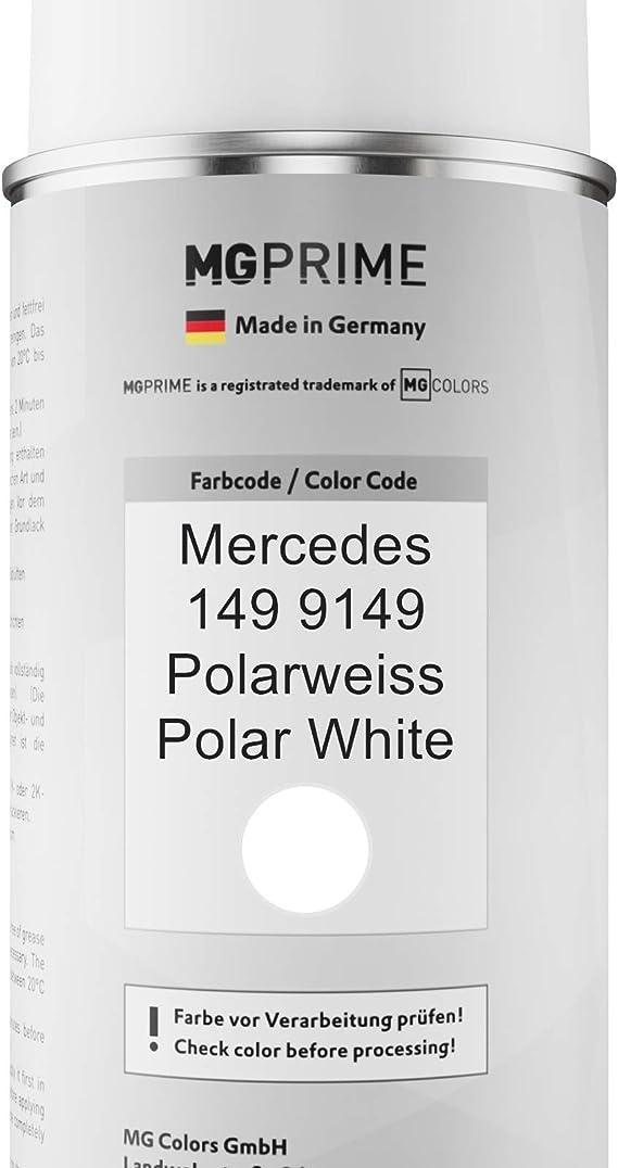 Mg Prime Autolack 2k Spraydosen Set Für Mercedes 149 9149 Polarweiss Polar White Basislack 2 Komponenten Klarlack Sprühdose Auto
