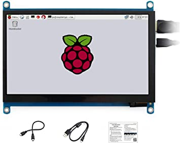Waveshare 7inch Display HDMI LCD C for Raspberry Pi 1024×600 IPS Touch Screen