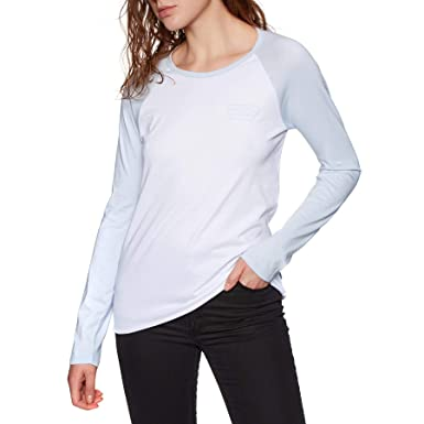 9aeee03476 Image Unavailable. Image not available for. Color  Vans Full Patch Raglan  Womens Long Sleeve T-Shirt Medium White ...